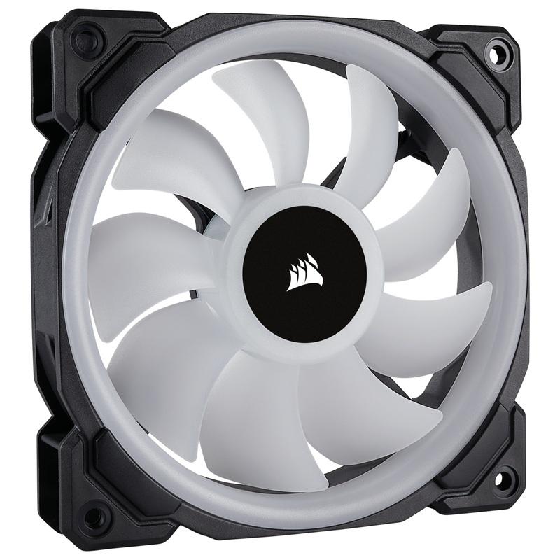 Node ファン3個とLighting PROをセットにした標準モデル CORSAIR CO-9050072-WW LL120 RGB 3 Fan Pack with Lighting Node PRO